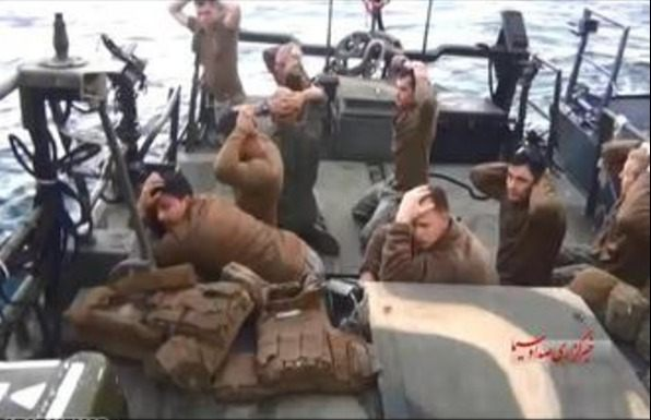 """US sailors being """"captured"""" by Iran"""