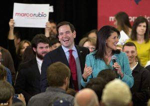 Senator Marco Rubio is endorsed by South Carolina Governor Nikki Haley