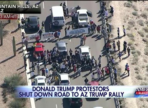 Wrongheaded Protestors Shut Down Access To Trump Rally In Fountain Hills AZ