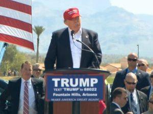 Trump at Fountain Hills AZ rally