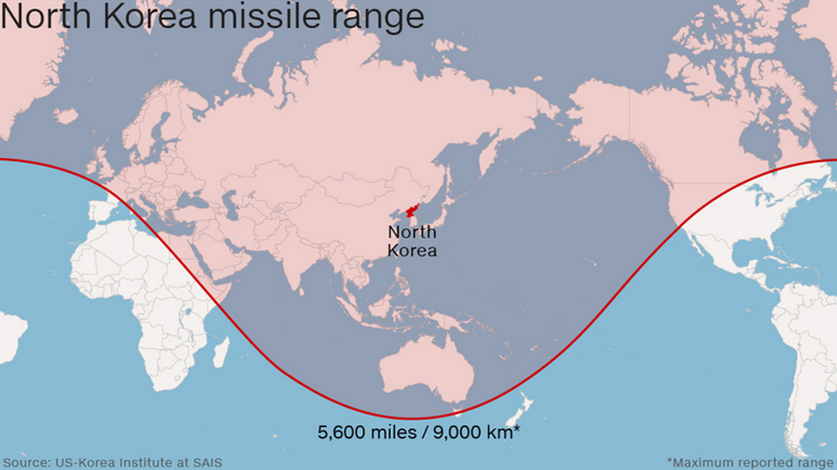 North Korea Launches Four Long Range Ballistic Missiles Is Anyone - Us icbm range map