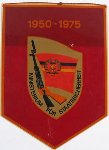 A flag from the East German Stasi