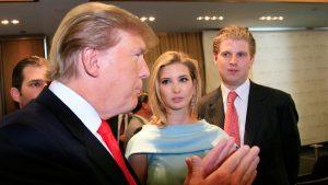 Donald Trump with daughter Ivanka & Son Eric