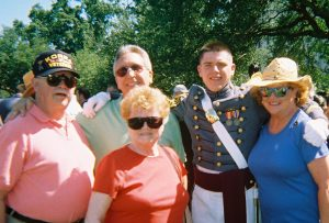 My folks and my husband and I with our son after the Long Gray Line Parade.  His last parade.