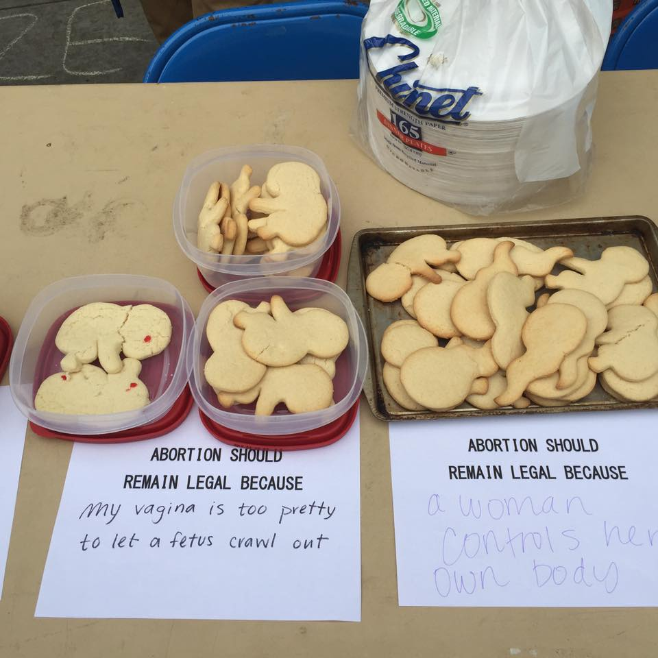Pro-abortion cookie rally (photo courtesy of Georgia Right to Life Facebook page)