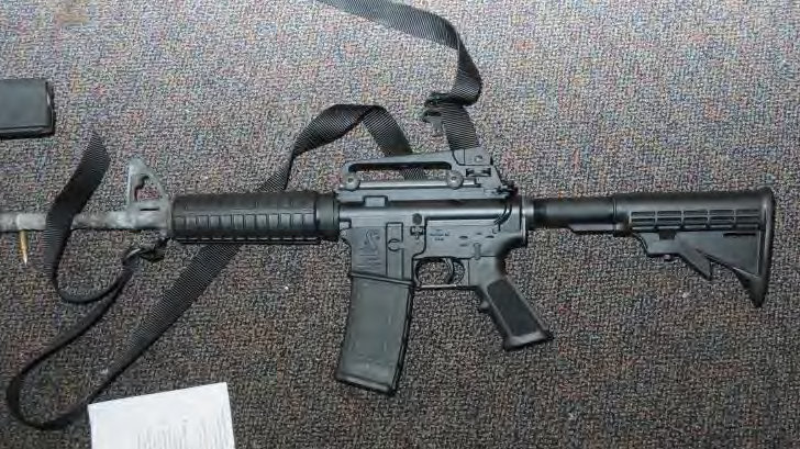 The AR-15 used in the Sandy Hook massacre. (photo: Getty Images)