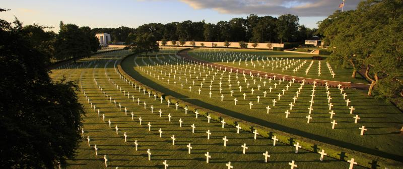 Cambridge American Cemetery, located in Cambridge, England (photo courtesy of ABMC website)