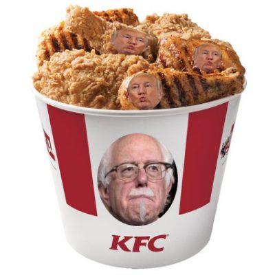 #ChickenTrump: Social Media Squawks After Donald Trump Backtracks on Debating Bernie Sanders