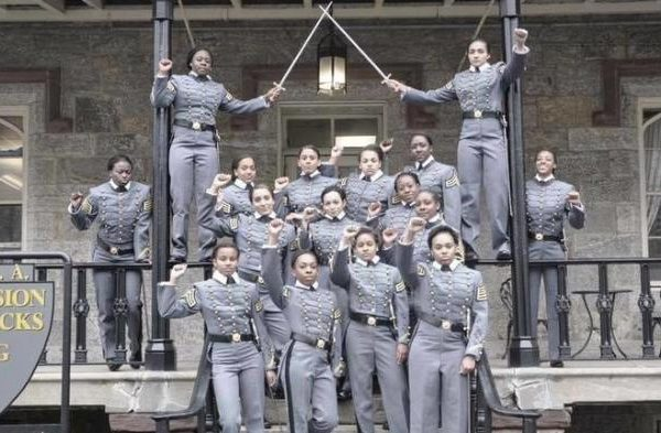 West Point Cadets' Raised Fists