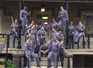 Black Female Cadets with Swords