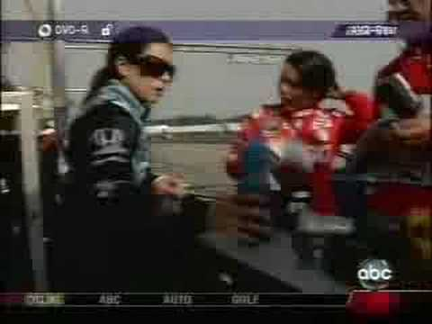 Danica Patrick gets into a girl fight!