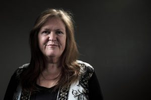 Jane Sanders, wife of Vermont Senator and 2016 Democratic presidential candidate Bernie Sanders, stands for a photograph following a campaign event and interview in Fort Madison, Iowa, U.S., on Friday, Jan. 29, 2016. In advance of Monday's Iowa caucuses, the first electoral contest of the presidential primaries, Jane Sanders has ventured out often on her own, sometimes with multiple events the same day. Photographer: T.J. Kirkpatrick/Bloomberg via Getty Images