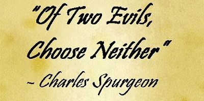Choosing neither evil