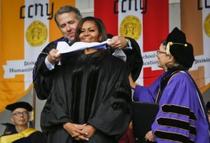 Michelle Obama receives an honorary degree at City College New York