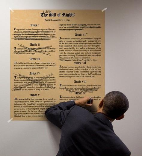 Obama and his gun-grabbing pen. (Photo credit: SodaHead)
