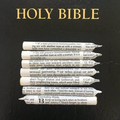 Oh, Grow Up: Portland Artists Roll Joints Made of Bible Pages