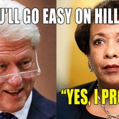 Clinton and Loretta Lynch Confab on Tarmac