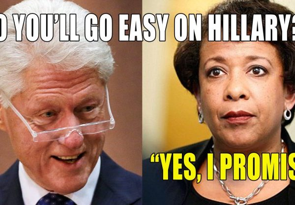 Clinton and Loretta Lynch Confab on Tarmac