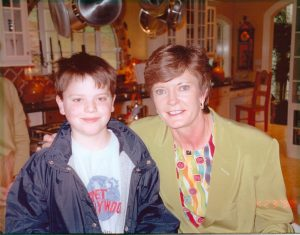 My son with Pat Summitt in 1988