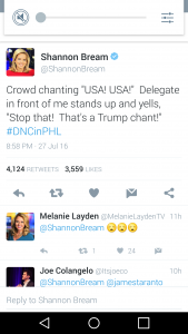 """USA"" is a Trump chant!?"