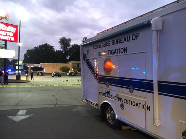 Crime scene in Bristol, TN (image from wjhl.com)