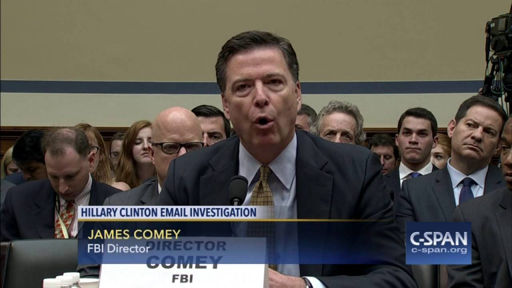 "FBI Director Comey reveals why he couldn't charge Hillary Clinton for being ""extremely careless"" with classified information"