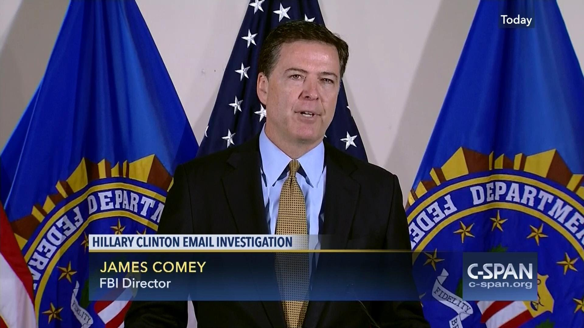 """FBI Director Comey reveals why he couldn't charge Hillary Clinton for being """"extremely careless"""" with classified information"""