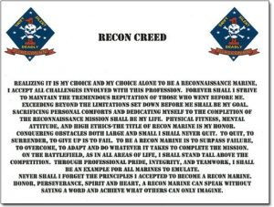 force recon creed