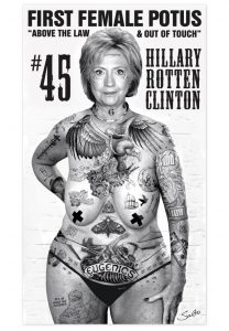 Hillary Rotten Clinton by Sabo