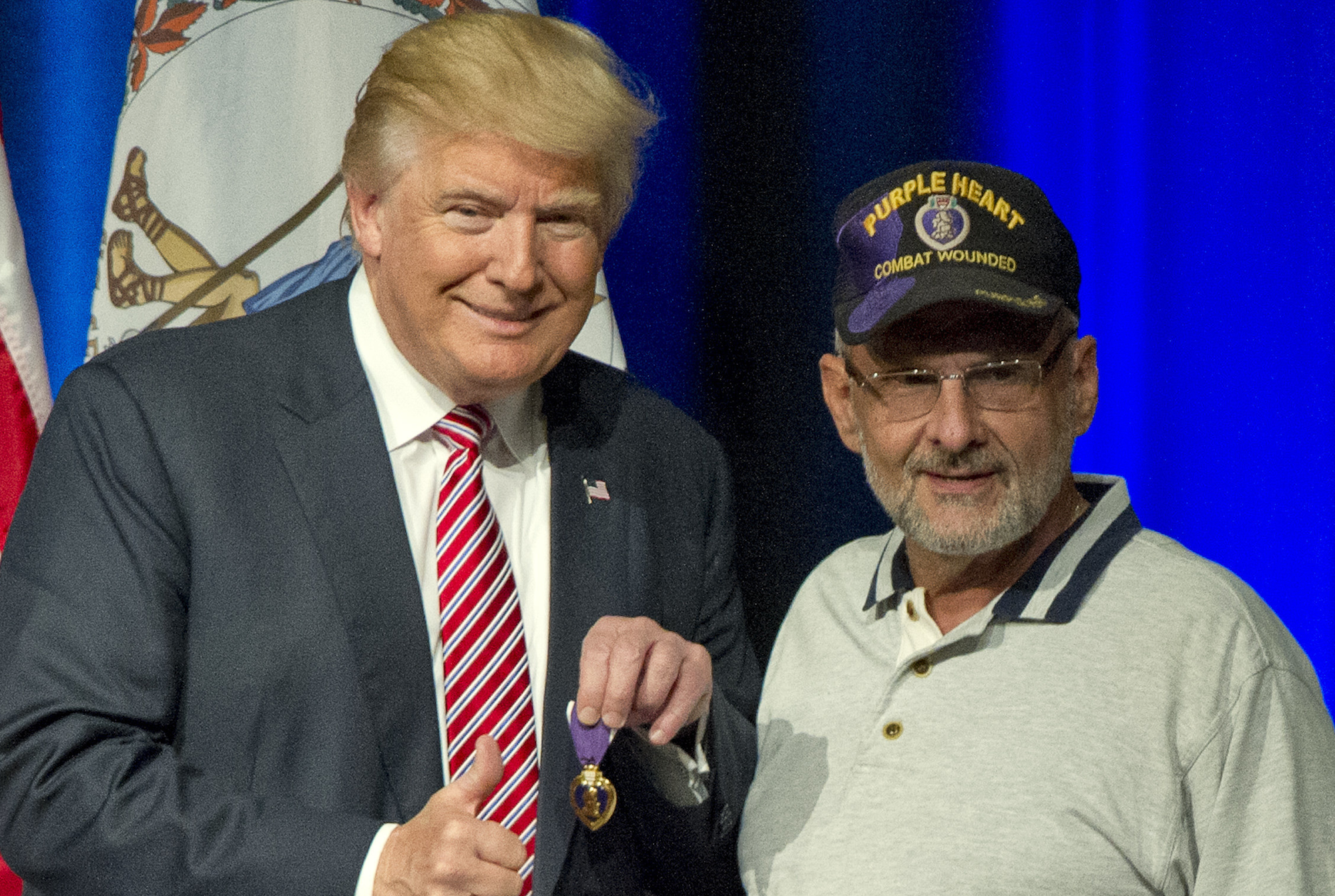Trump Receives Purple Heart from Vet. Hmm, What Should Hillary Receive? [VIDEOS]