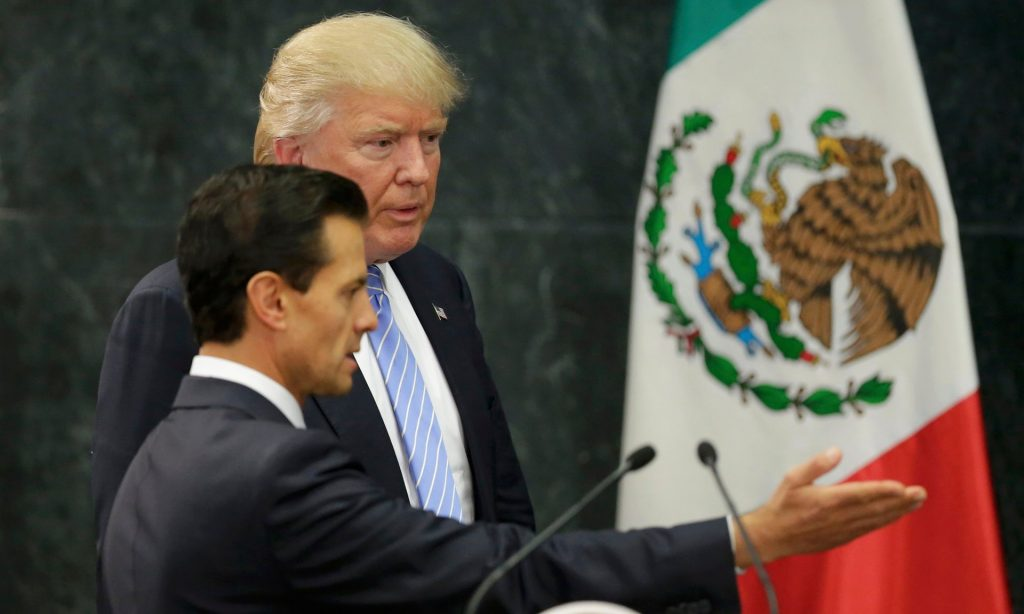 Trump and President Nieto after their meeting in Mexico City, August 31, 2016 (photo: Henry Romero/Reuters)