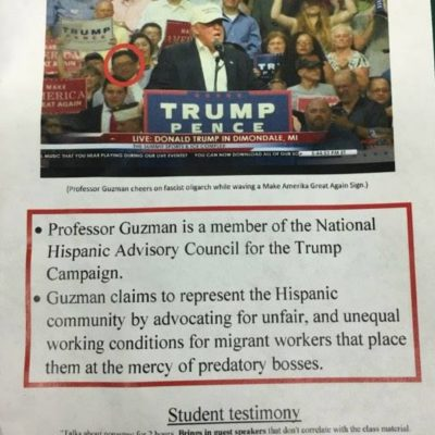 Michigan State Snowflakes Shame Hispanic Prof. Joseph Guzman for Supporting Trump