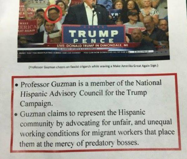 Michigan State Snowflakes Shame Hispanic Prof. Joseph Guzman for Supporting Trump