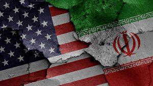 US iran flags