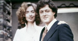 Bill and Hillary Clinton on their wedding day.