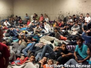 Crowded Texas Border facility