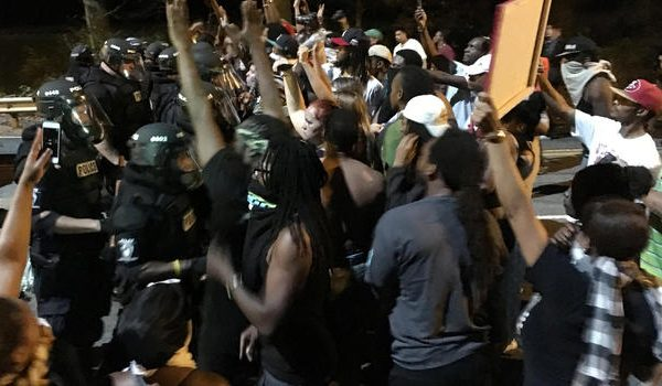 Police Shooting Protesters Shut Down Charlotte I 85