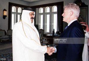 Bill Clinton and Qatari Sheik Hamad bin Jassim....whatever.