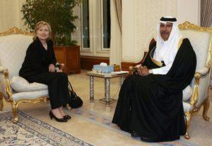 Hillary and Qatari Sheik Hammad bin Jassim bin Jabor Al Thani