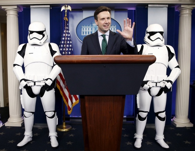 Josh Earnest: These are not the jokes you're looking for. (Photo Credit: Christian Post)