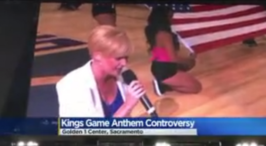 Top THIS: National Anthem SINGER takes a knee [video]