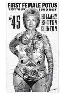 Hillary Clinton by Sabo