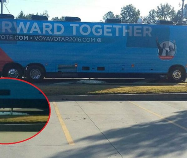 Hillary's Potty Bus Dumps Pee, Poo, and Paper Down a Storm Drain [VIDEOS]