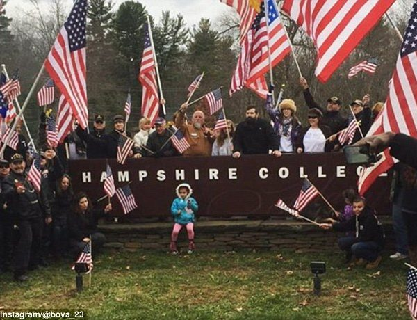 Veterans Protest Hampshire College's Removal Of American Flags From Campus [VIDEOS]