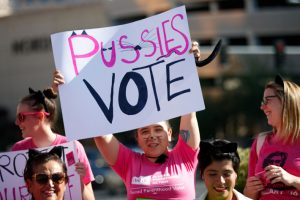 Planned Parenthood Protesters against Trump