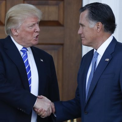 Secretary of State Watch: Donald Trump and Mitt Romney Go on Second Date