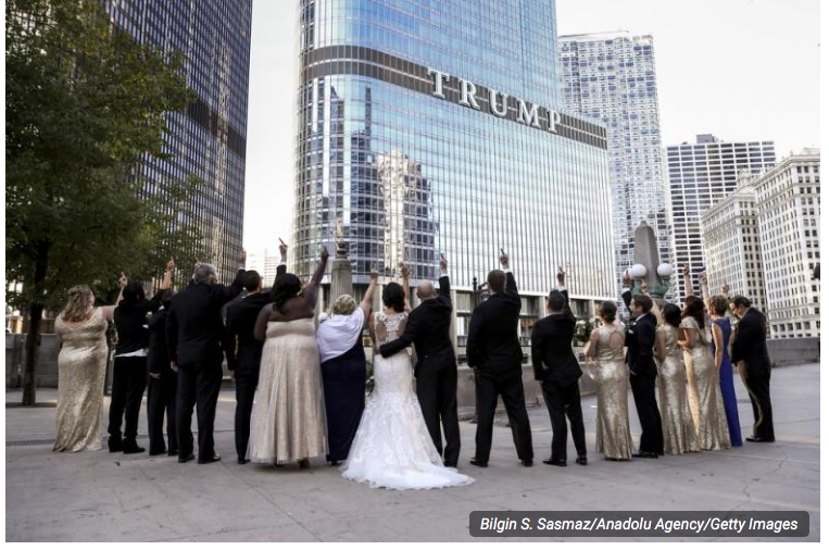 It's A Thing Now: Newlyweds Flip Off Trump Tower in Wedding Photos. [VIDEO]