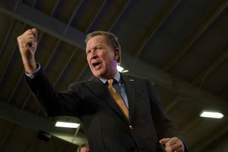 Ohio Gov. John Kasich after winning the Ohio primary. (Photo Credit: US News)