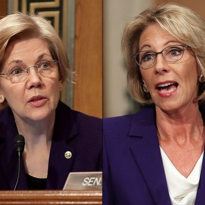 Classy: Senator Elizabeth Warren Refuses To Shake Betsy DeVos Hand [VIDEO]