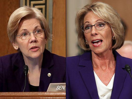 Classy: Senator Elizabeth Warren Refuses To Shake Betsy DeVos Hand [VIDEO]